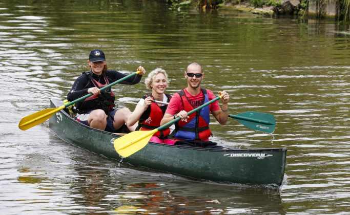 Descente en canoe kayak de la Blies ou de la Sarre